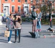 Lat eftermiddag i Manhattan Arkivfoton