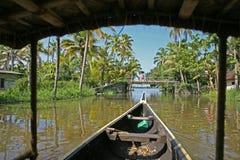 Lat eftermiddag på de Keralan avkrokarna Fotografering för Bildbyråer