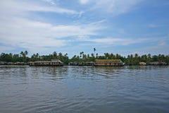 Lat eftermiddag på de Keralan avkrokarna Royaltyfria Bilder