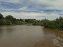 lat flod Royaltyfria Foton