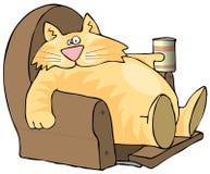 lat katt stock illustrationer