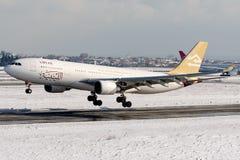 5A-LAT lignes aériennes libyennes, Airbus A330 - 200 Photographie stock libre de droits