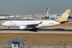 5A-LAT linee aeree libiche, Airbus A330-202 Fotografia Stock Libera da Diritti