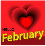 Hello february stock background. Vector illustration concept for Hello february. EPS file available. see more images related stock illustration