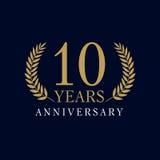 10 lat luksusowy logo ilustracji