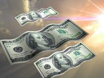 latać dolarów. ilustracja wektor