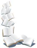 Latać książki Zdjęcia Stock