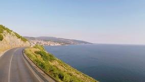 Latać nad autostradą blisko Adriatyckiego morza zbiory
