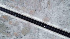 Latać nad autostrada zbiory wideo
