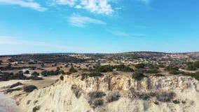 Latać nad Avdimou beack na południowym wybrzeżu Cypr zbiory wideo