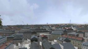 Latać nad 3d miasta głąbikiem zbiory wideo