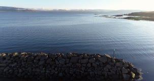Latać nad dalekim schronieniem w Iceland zdjęcie wideo