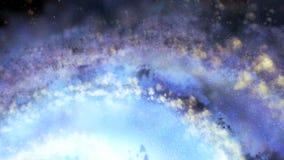 Latać nad galaxy międzygwiazdowy lot royalty ilustracja