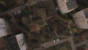 Latać nad jardem bloki mieszkaniowi w Moskwa zbiory wideo