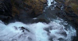 Latać nad niewiarygodną siklawą w Iceland zbiory
