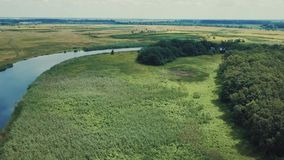 Latać nad polem i rzeką zbiory wideo
