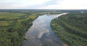 Latać nad rzeką zdjęcie wideo