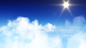 Latać przez niebieskiego nieba zbiory wideo