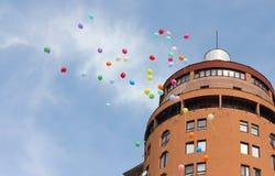 Latać w górę balonów Obrazy Royalty Free