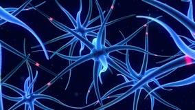 Latać wokoło nerw komórek ilustracja wektor