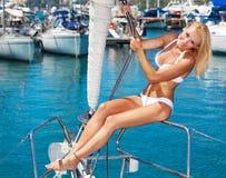 Lata żeglowania wakacje Zdjęcia Royalty Free