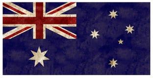 Lata australiana do metal do Grunge da bandeira de Austrália gravada fotos de stock