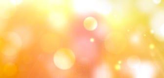 Lata bokeh ciepły tło Zdjęcie Royalty Free