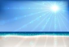 Lata bokeh plażowy tło ilustracji