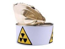 Lata con la muestra nueve de la radiación Fotos de archivo libres de regalías
