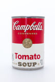 Lata da sopa do tomate de Campbell Imagem de Stock Royalty Free
