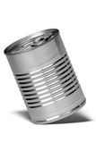 Lata de alumínio fotografia de stock