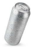 lata de alumínio de 500 ml com gotas da água Fotos de Stock