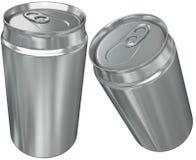 Lata de alumínio em dois que escorçam Imagem de Stock