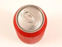 Lata de bebida vermelha imagem de stock royalty free