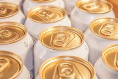 Lata de cerveja Fotografia de Stock Royalty Free
