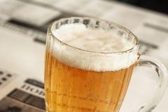 Lata de cerveja Imagens de Stock