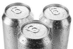 Lata de cerveja de alumínio Fotografia de Stock
