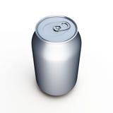 Lata de cerveja de alumínio sobre o branco Fotografia de Stock