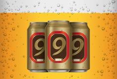 Lata de cerveza Foto de archivo