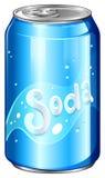 Lata de A da soda ilustração do vetor