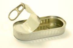 Lata de estanho vazia - anchova Imagens de Stock