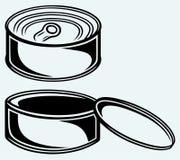 Lata de lata ilustração stock