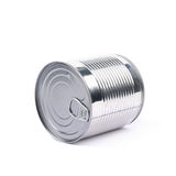 Lata de lata do metal isolada Imagens de Stock