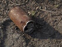 Lata de lata oxidada Imagem de Stock Royalty Free