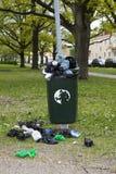 Lata de lixo Fotografia de Stock Royalty Free