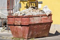 Lata de lixo industrial Foto de Stock