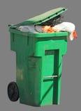 Lata de lixo isolada no cinza foto de stock