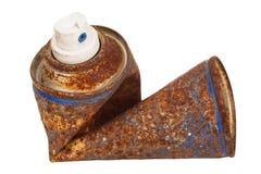 Lata de pulverizador oxidada Fotos de Stock
