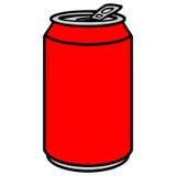 Lata de soda ilustração stock