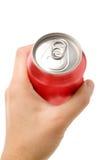 Lata de soda em branco vermelha Fotografia de Stock Royalty Free
